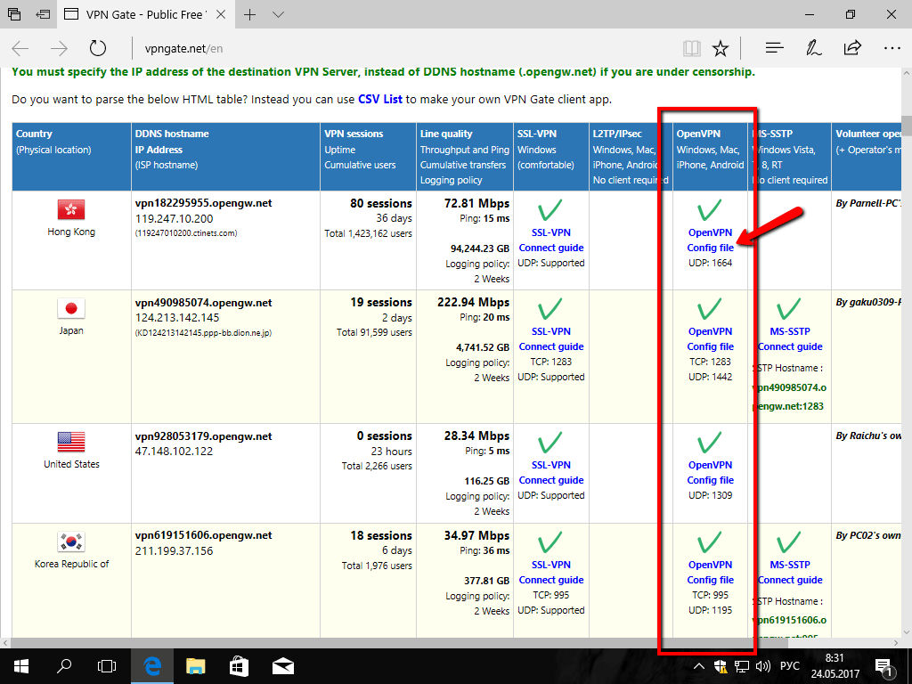 Описание и настройка OpenVPN